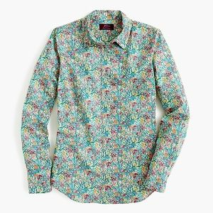 J. Crew liberty perfect shirt in floral meadow